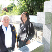 Legion branch president Allan Jones, left, and artist Michelle Parboosingh,